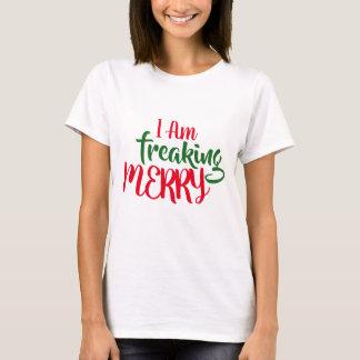 Camiseta Engraçado eu Freaking o t-shirt do Feliz Natal