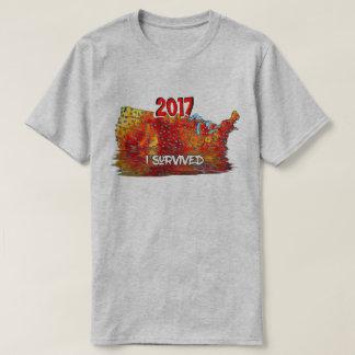 Camiseta Engraçado eu sobrevivi ao mapa da onda de calor do
