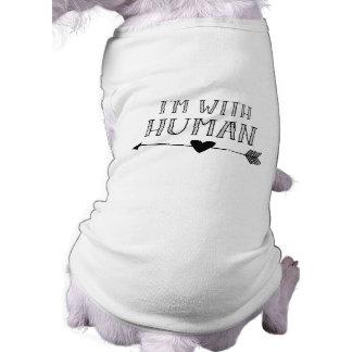 Camiseta Engraçado: Eu sou com ser humano