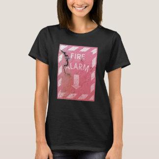 Camiseta Engraçado legal oxidado do alarme de incêndio e da