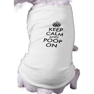 Camiseta Engraçado mantenha a calma e o tombadilho no