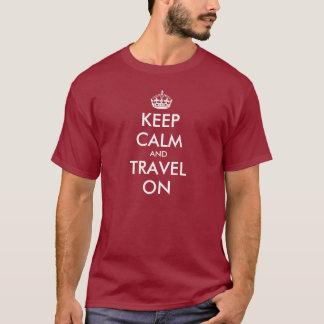Camiseta Engraçado mantenha o t-shirt calmo | para manter a