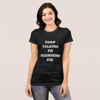 Camiseta Engraçado mantenha o t-shirt de fala do jérsei das