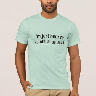 Camiseta Engraçado meu presente do partido do álibi