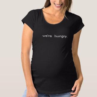 Camiseta Engraçado nós somos mamães de maternidade com fome