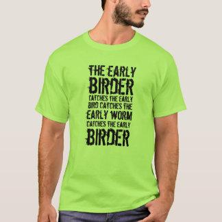 Camiseta Engraçado o Birder adiantado trava…