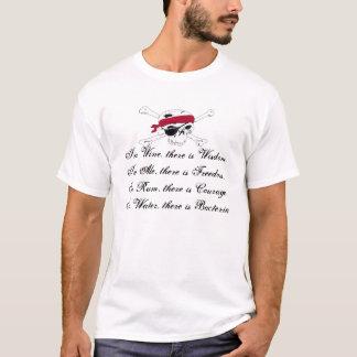 Camiseta Engraçado porque os piratas bebem o t-shirt do rum