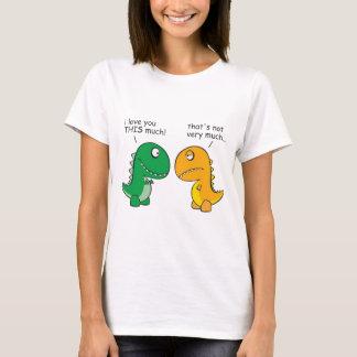 Camiseta engraçado-T-Rex-pequeno-braço-desenhos animados