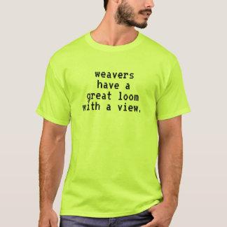 Camiseta Engraçado um tear com uma vista
