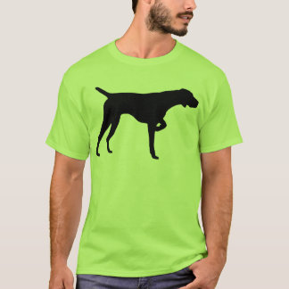 Camiseta Engrenagem alemão do ponteiro de cabelos curtos