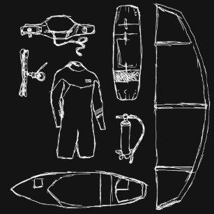 Camiseta Engrenagem de Kiteboarding (branca) c23265001bb19