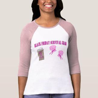 Camiseta Engrenagem PRETA da sobrevivência de SEXTA-FEIRA