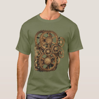 Camiseta Engrenagens em sua engrenagem! (Sepia)