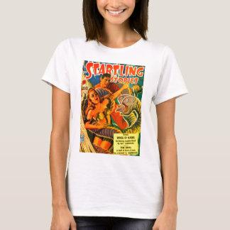 Camiseta Enguia Dois-dirigida assustador do espaço