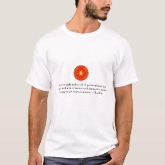 Camiseta Ensine esta verdade tripla a tudo: Um coração
