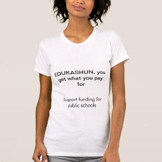 Camiseta Ensino público do fundo