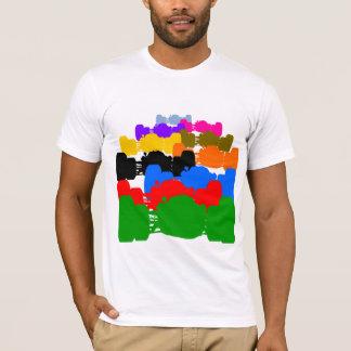 Camiseta Entalhes psicadélicos múltiplos do carro de