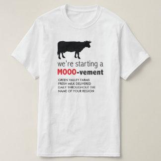 Camiseta Entrega do leite da fazenda de leiteria que começa