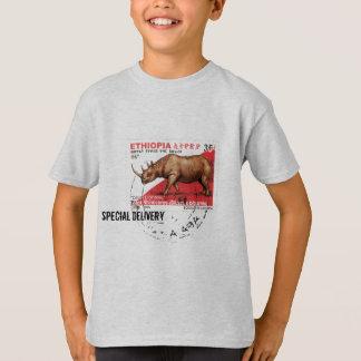 Camiseta Entrega especial - selo preto etíope do