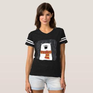 Camiseta Entregue o urso branco de tiragem com lenço,
