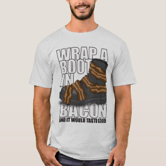 Camiseta Envolva uma bota no bacon e provaria bom