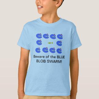 Camiseta Enxame azul da gota