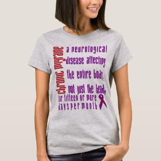 Camiseta Enxaqueca crônica - doença neurológica