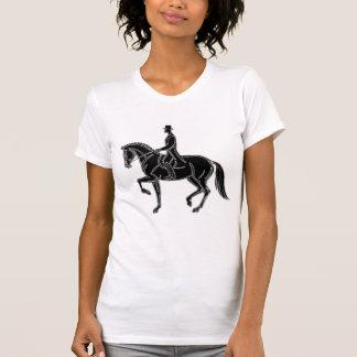 Camiseta Equestrian de Piaffe do adestramento do cavalo