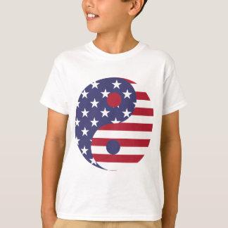 Camiseta Equilíbrio do asiático da arte abstracta da