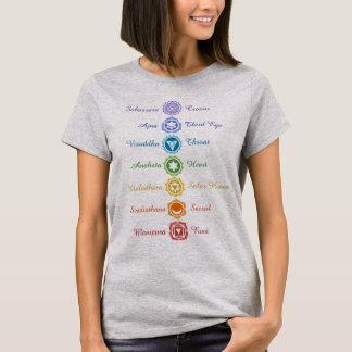 Camiseta Equilíbrio sânscrito da energia de sete nomes de