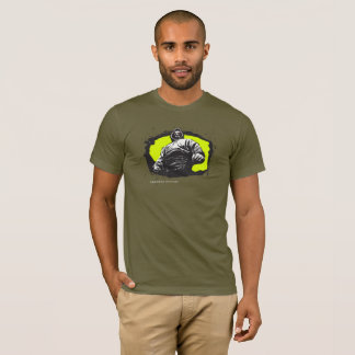 Camiseta Equipa fraca Gangsta possuído vitória - verde do