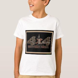 Camiseta equipamento 4X4 acima de Camo