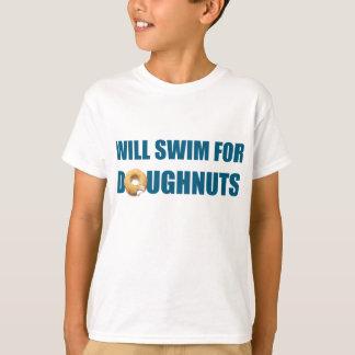 Camiseta Equipe de natação, presente personalizado do