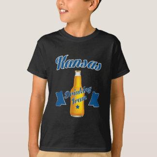 Camiseta Equipe do bebendo de Kansas