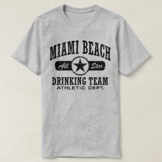 Camiseta Equipe do bebendo de Miami Beach