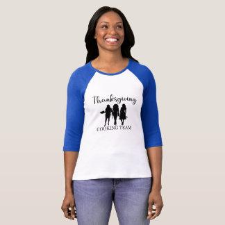 Camiseta Equipe do cozinhar da acção de graças