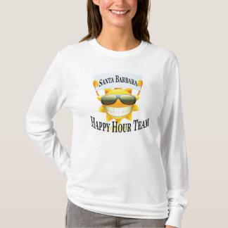 Camiseta Equipe do happy hour de Santa Barbara