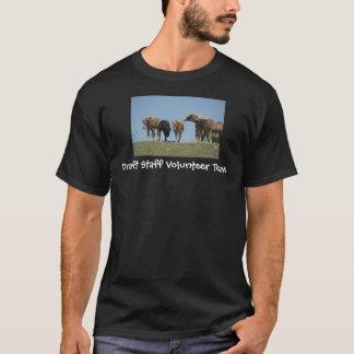 Camiseta Equipe do voluntário dos funcionarios do esboço