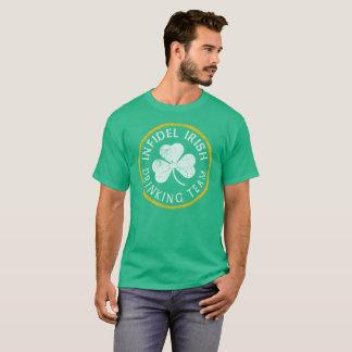 Camiseta Equipe irlandesa infiel patriótica do bebendo