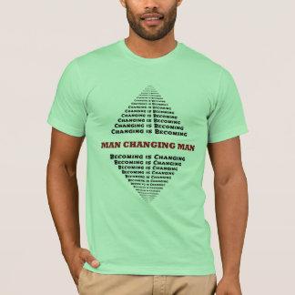 Camiseta Equipe o homem em mudança, mudando está
