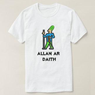 Camiseta Equipe o passeio uma viagem e um texto ALLAN AR
