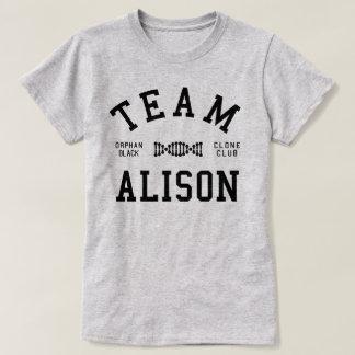 Camiseta Equipe preta órfão Alison