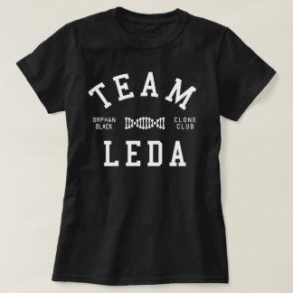 Camiseta Equipe preta órfão Leda