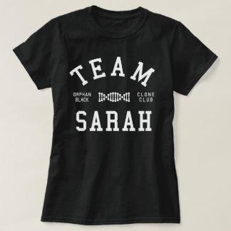 Camiseta Equipe preta órfão Sarah