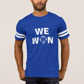 Camiseta Equipe seja quieto nós ganhou o t-shirt da cor