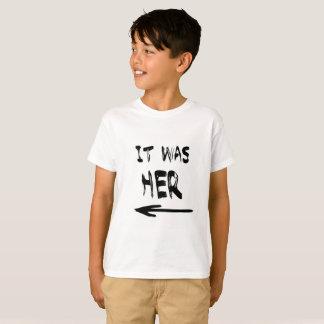 Camiseta Era ela! T dos meninos