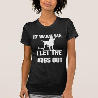 Camiseta Era mim que eu deixei os cães para fora