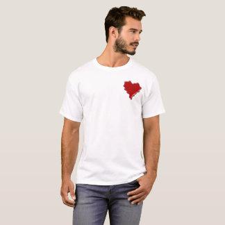 Camiseta Erika. Selo vermelho da cera do coração com Erika