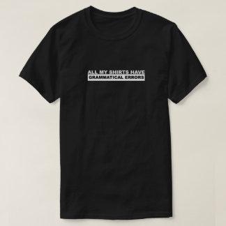 Camiseta Erros gramaticais