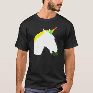 Camiseta Erva daninha que come o t-shirt do unicórnio